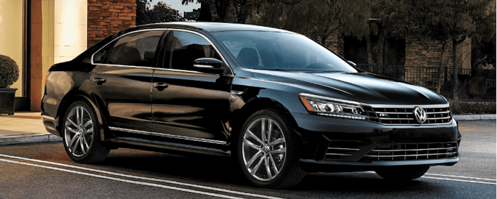 Black 2019 Volkswagen Passat from the right