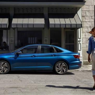 2019 Volkswagen Jetta SEL-Premium-in silk blue metallic side view