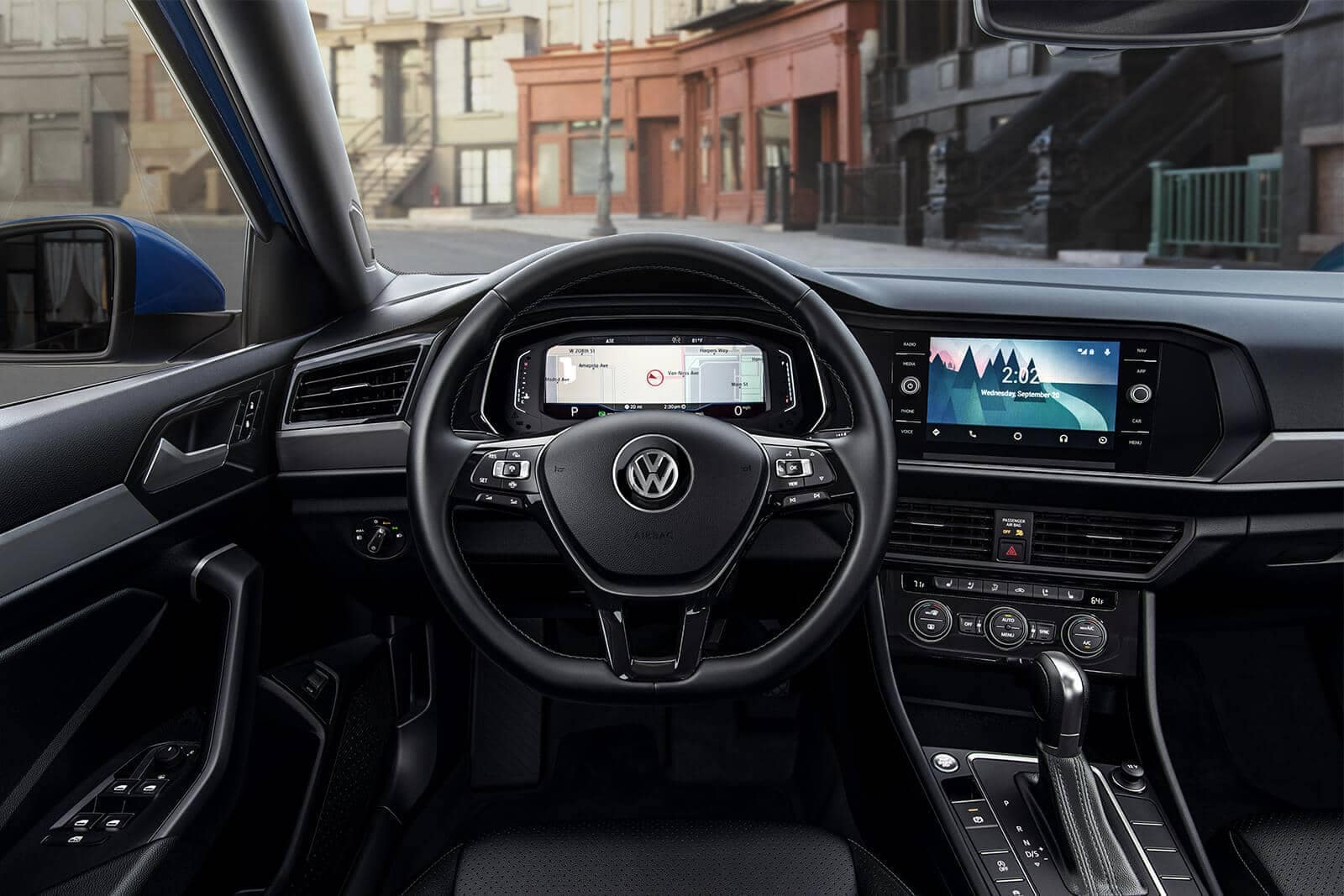 2019 Volkswagen Jetta SEL Premium titan black leather interior dashboard