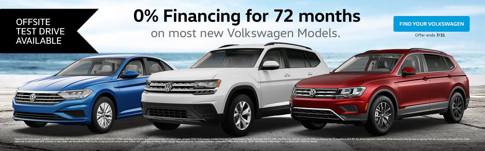 VW 0% Financing for 72 Months