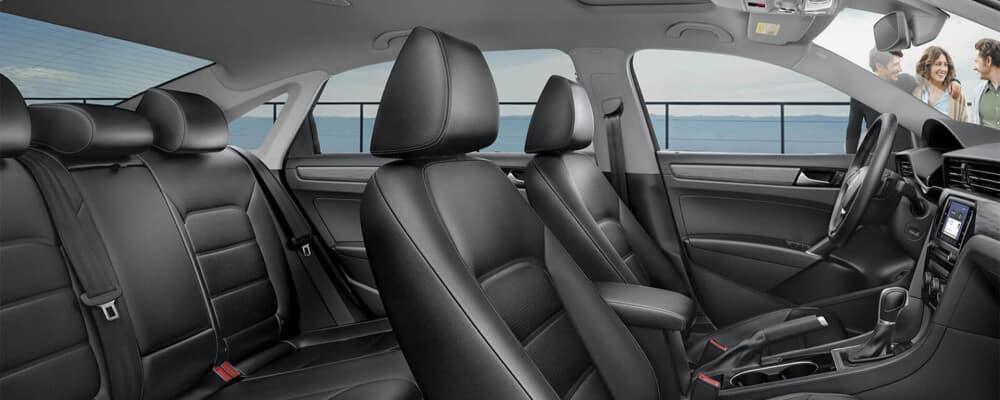 2020 Volkswagen Passat black interior