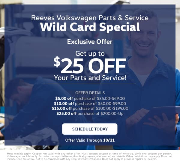 Reeves VW Wild Card Service Special