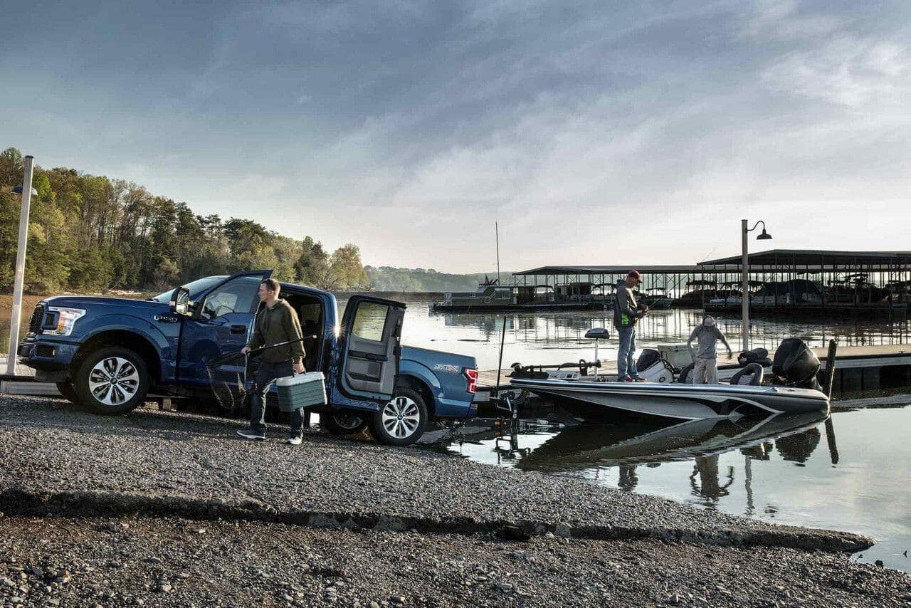 2018 Ford F-150 STX in Lightning Blue