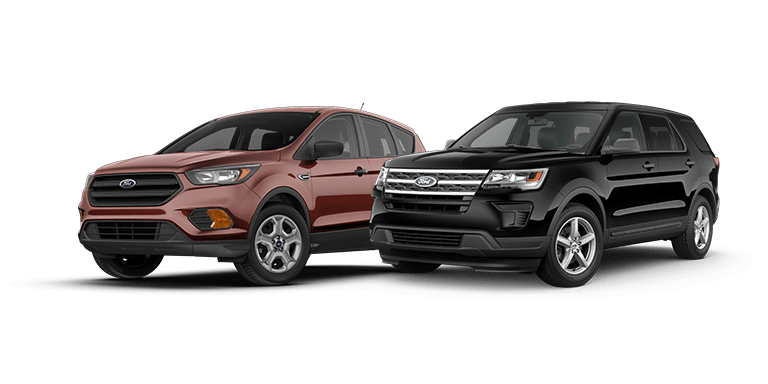 2018 ford escape vs 2018 ford explorer. Black Bedroom Furniture Sets. Home Design Ideas