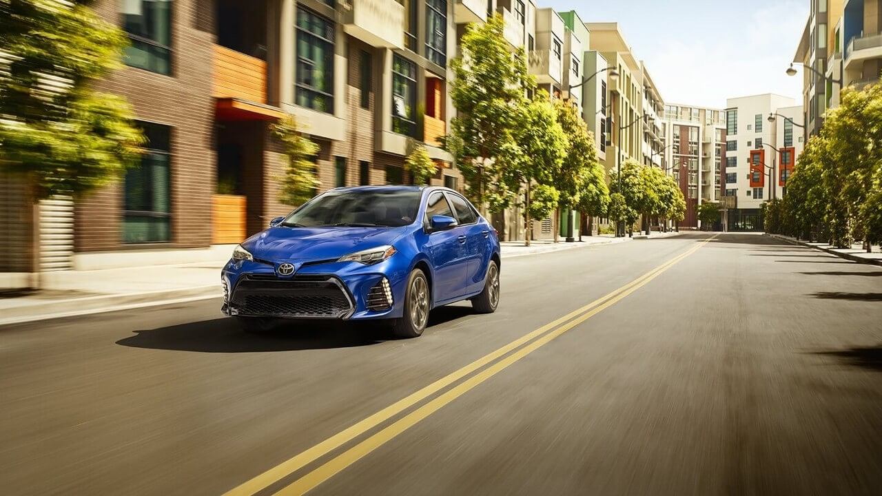 2018 Toyota Corolla on road