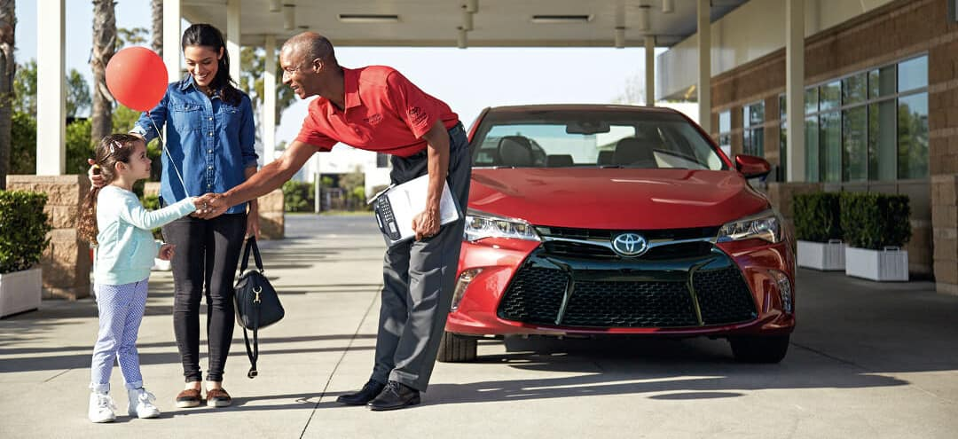 Toyota Service Advisor with client