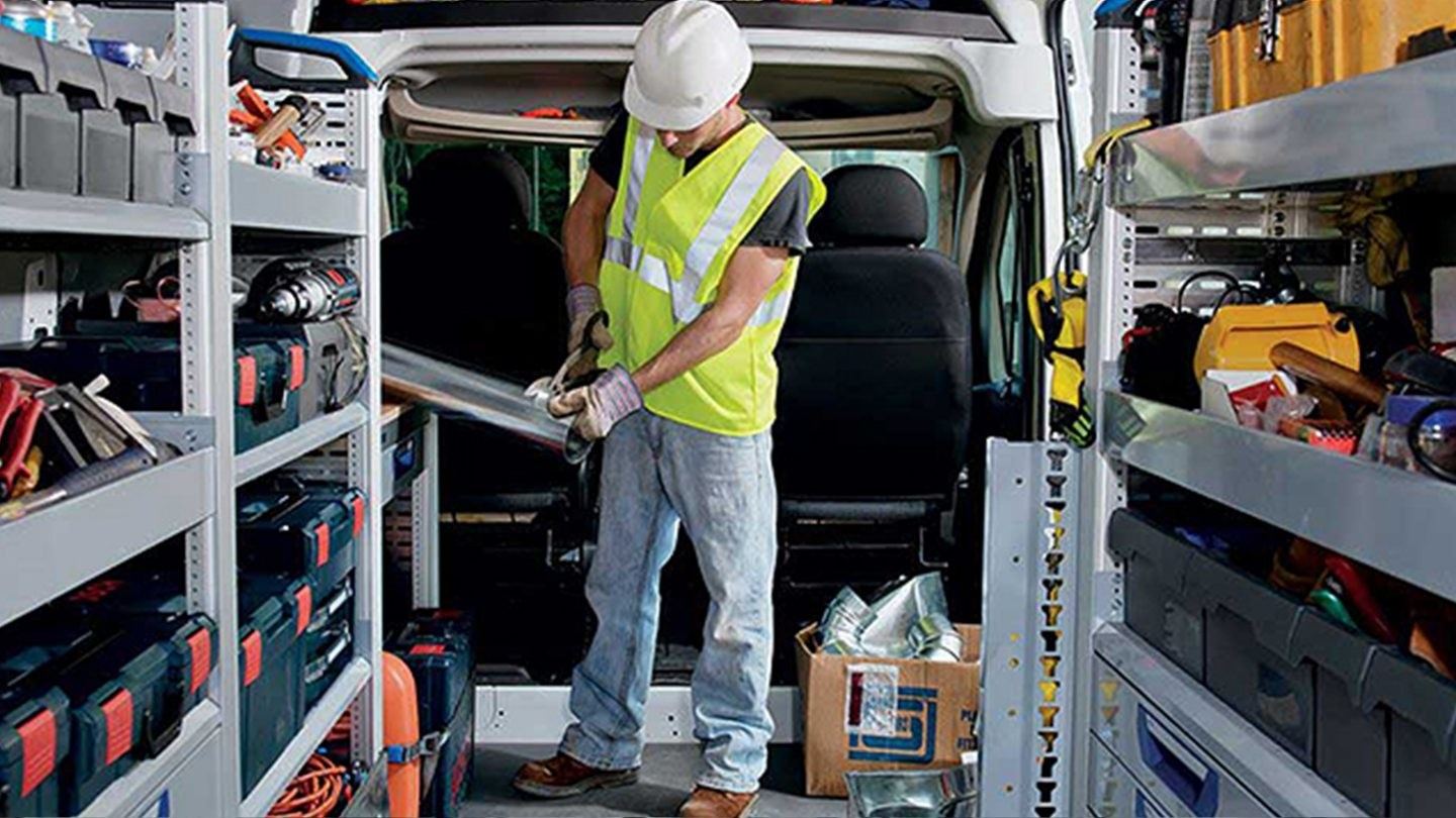 2017 Ram ProMaster construction man working in back of van