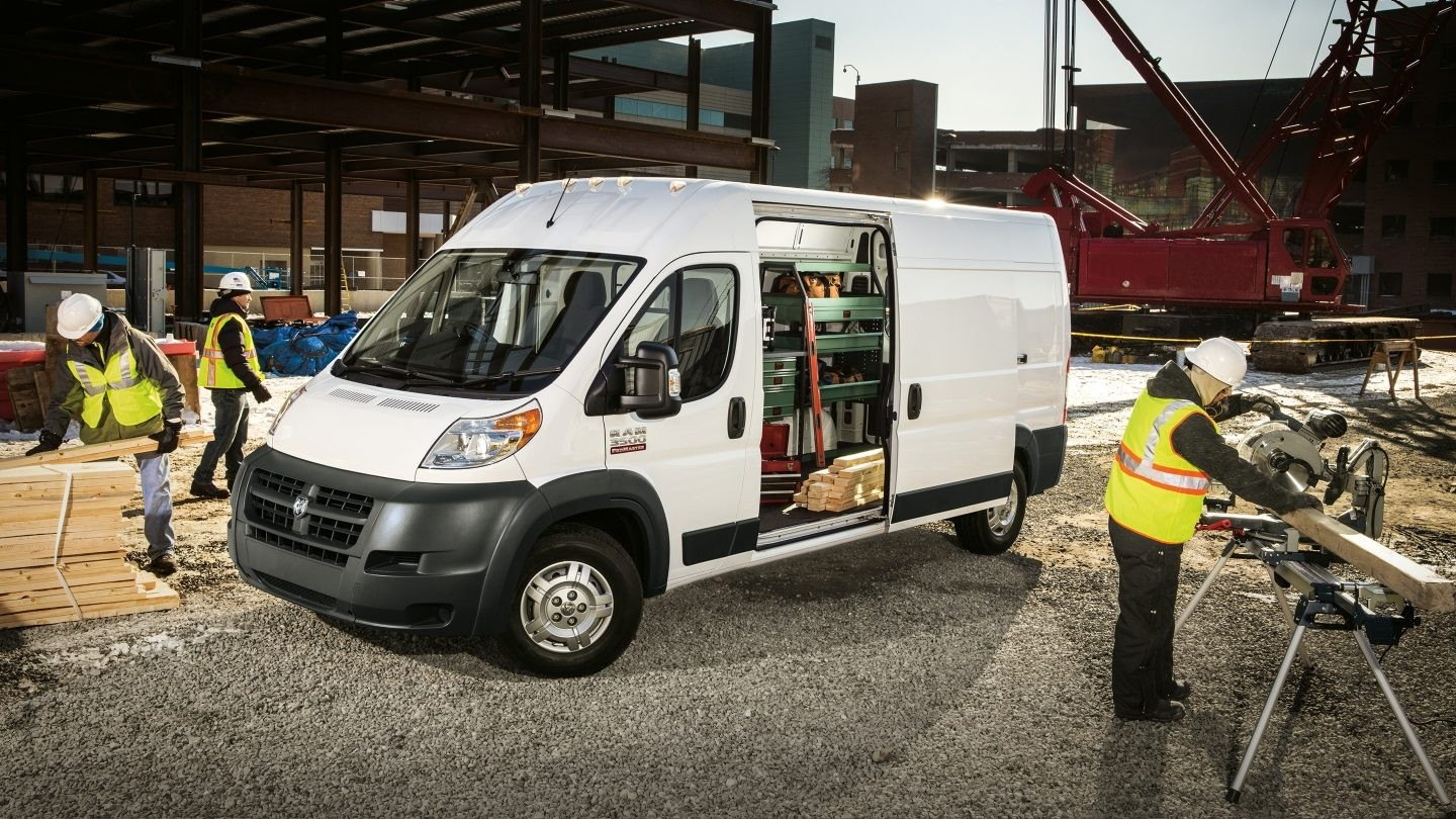 2017 Ram ProMaster parked on worksite
