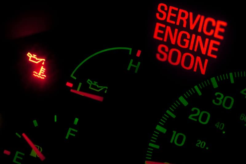 check engine light warning