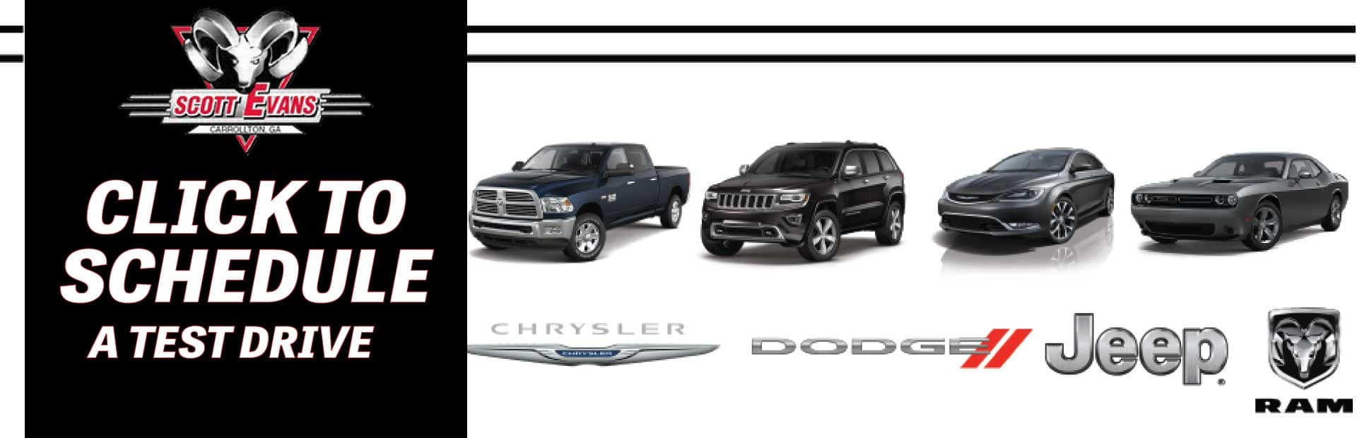 Click to Schedule a Test Drive Banner!