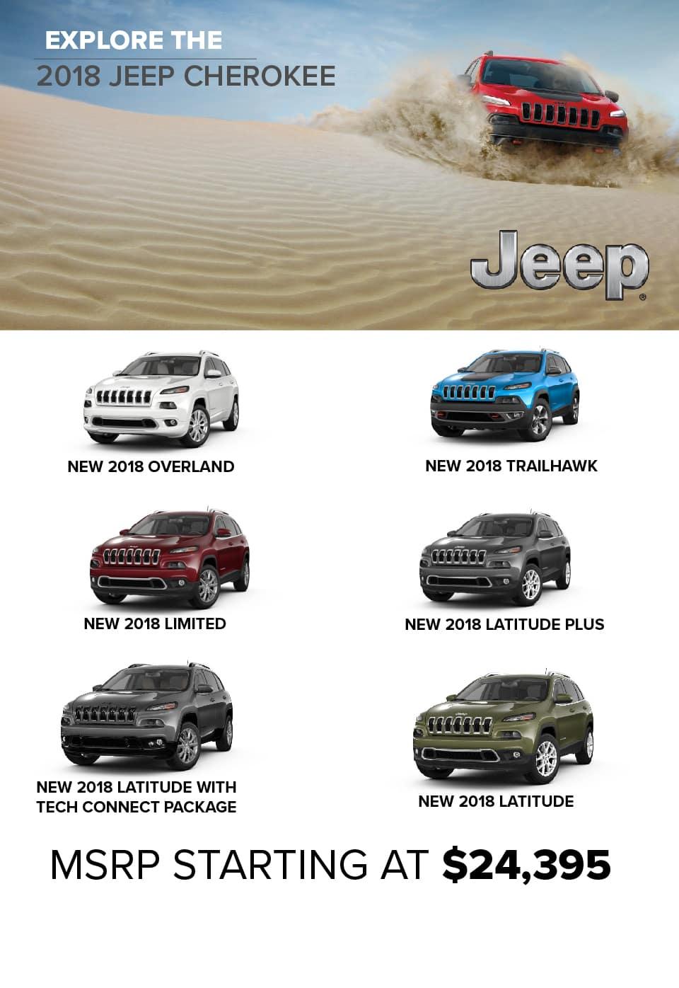 2018 Jeep Cherokee Trim's Banner