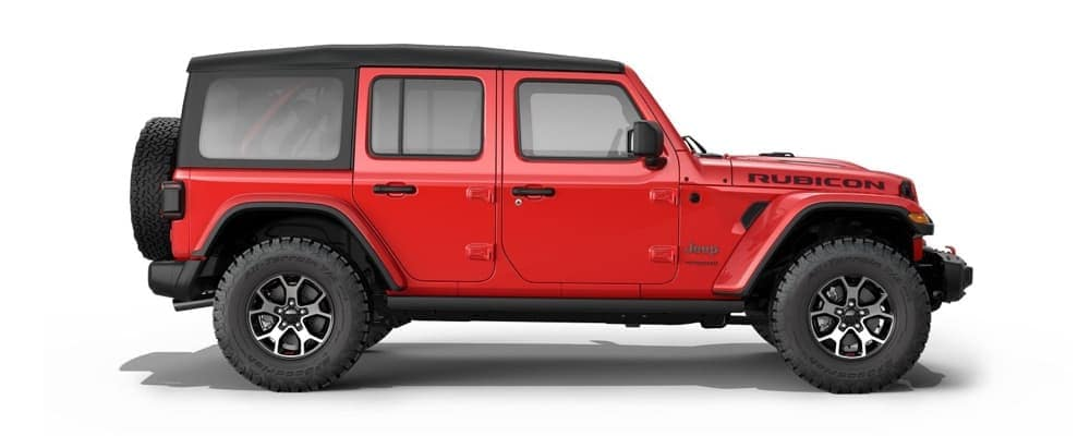 2018 Jeep Wrangler side exterior showing the doors