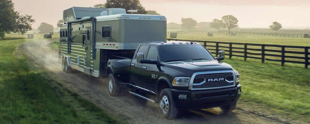 2018 RAM 3500 Limited Towing a Trailer