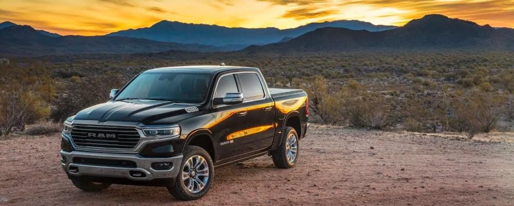 2019 RAM 1500 in the desert