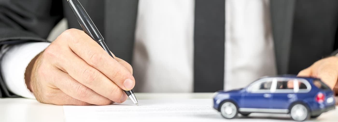 car finance paperwork