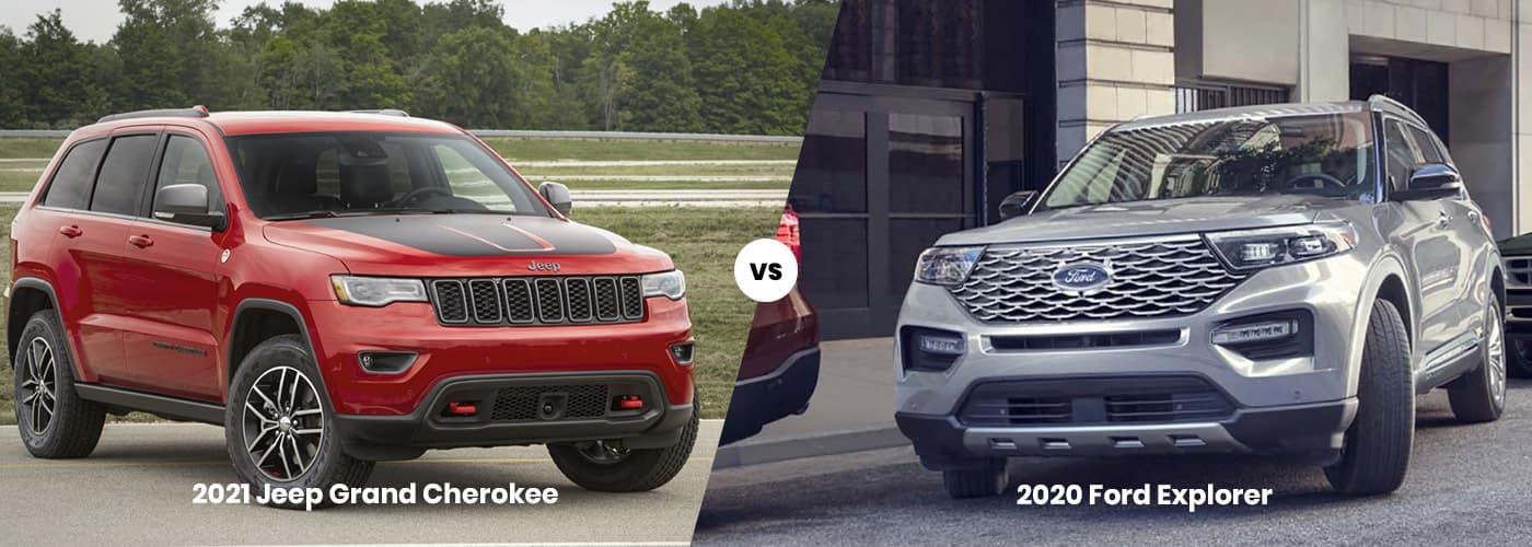 2021 Jeep Grand Cherokee vs 2020 Ford Explorer Comparison
