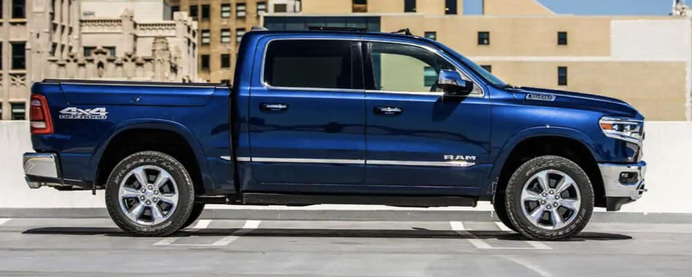 2021 RAM 1500 ecodiesel parked on rooftop