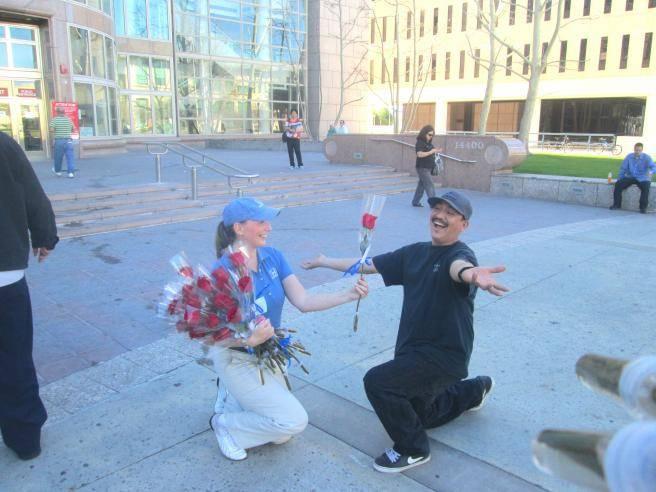 Helpful Blue Cupids Spread Love on Valentine's Day