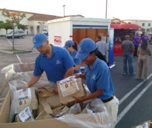 The Guys in Blue Help Feed SoCal