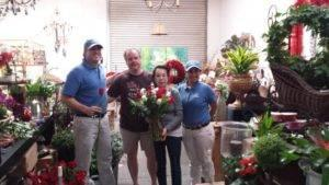 Guys in Blue Help Spread the Love with Valentine's Day Roses