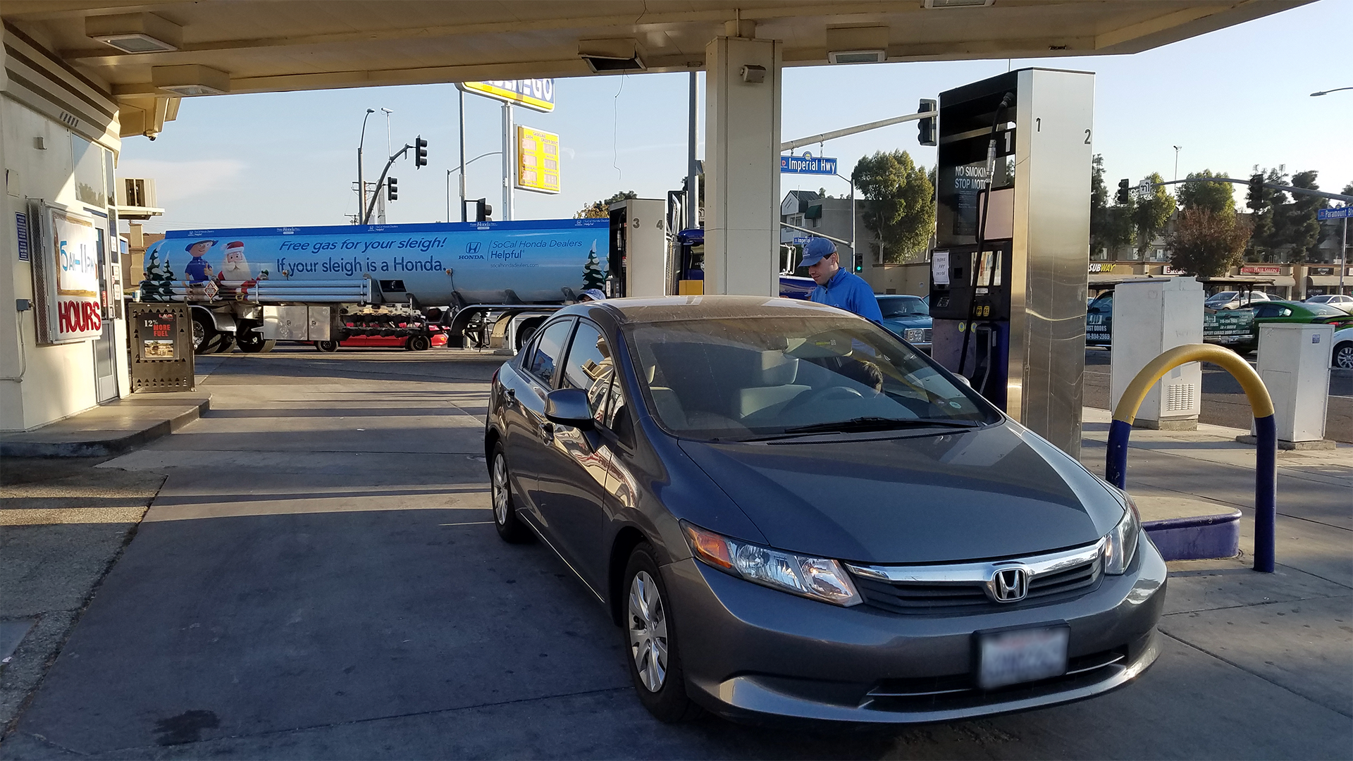 Helpful honda holiday treats truck and tanker truck for Honda dealers los angeles