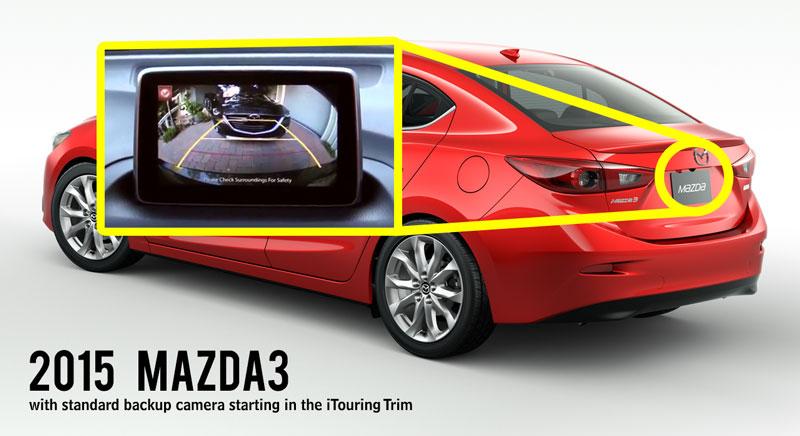 2015 Mazda3 backup camera