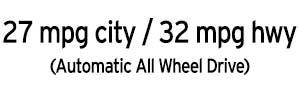 27 city / 32 highway CX-3 MPG