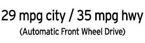 29 city / 35 highway CX-3 MPG
