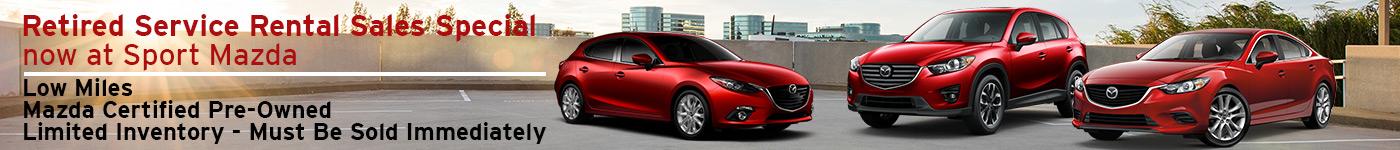 Retired Service Rental Car Sales Special at Sport Mazda in Orlando, FL
