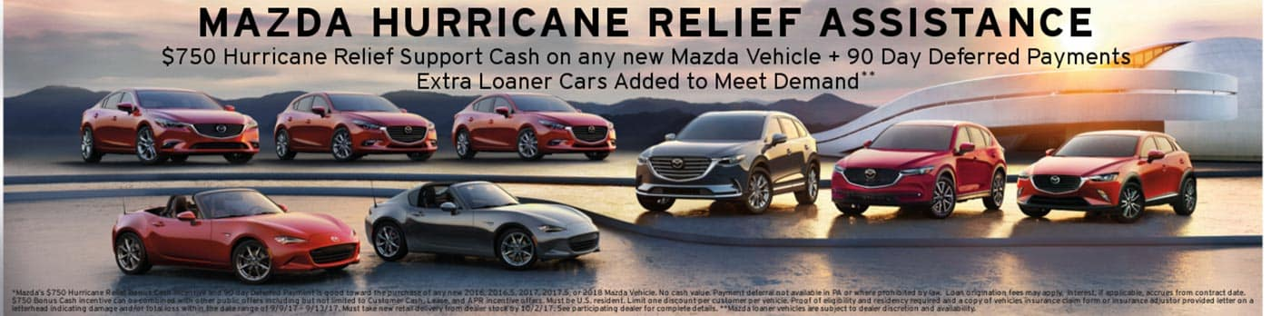Mazda Hurricane Relief Incentive at Sport Mazda in Orlando, FL