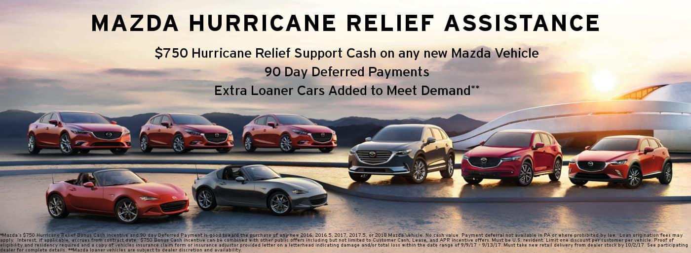 Mazda Hurricane Relief Incentive at Sport Mazda in Orlando, FL