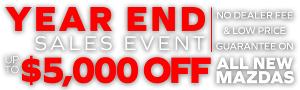Year End Sales Event Up To $5,000 Off All New Mazdas Sport Mazda Orlando, FL