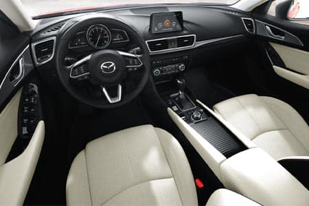2018 mazda mazda3 white leather interior