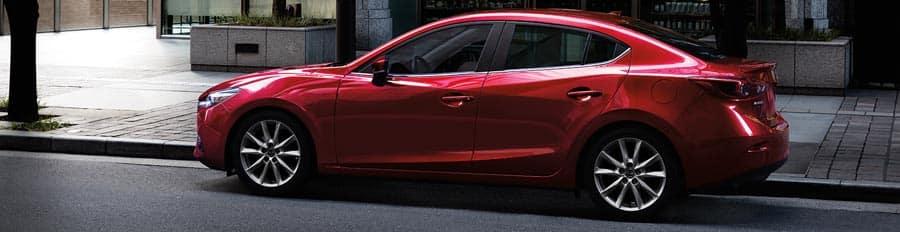 2018 mazda mazda3 sedan red exterior