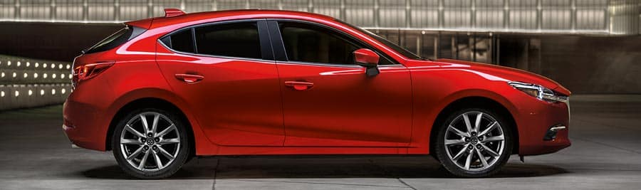 2018 mazda mazda3 hatchback red exterior