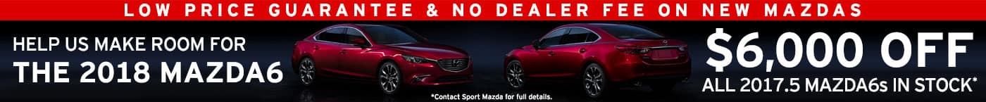 $6,000 off 2017.5 Mazda6 at Sport Mazda in Orlando, FL