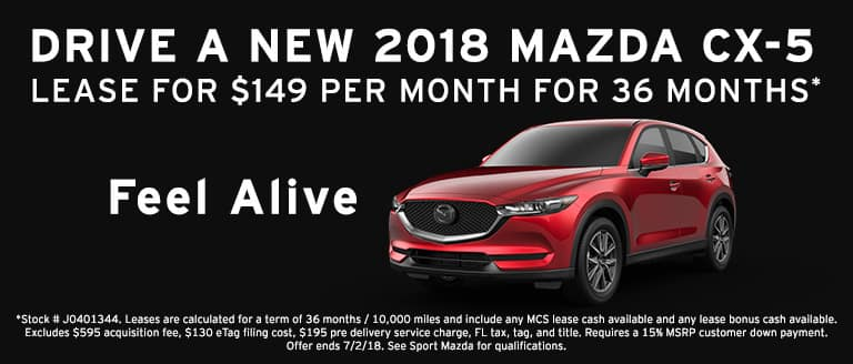 2018 Mazda CX-5 now at Sport Mazda in Orlando, Florida