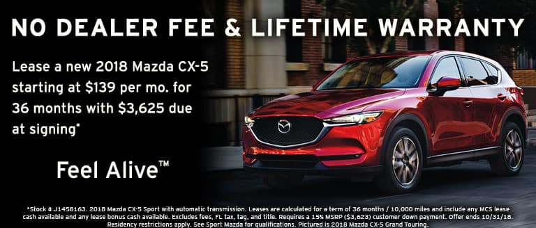 October lease special at Sport Mazda in Orlando, FL