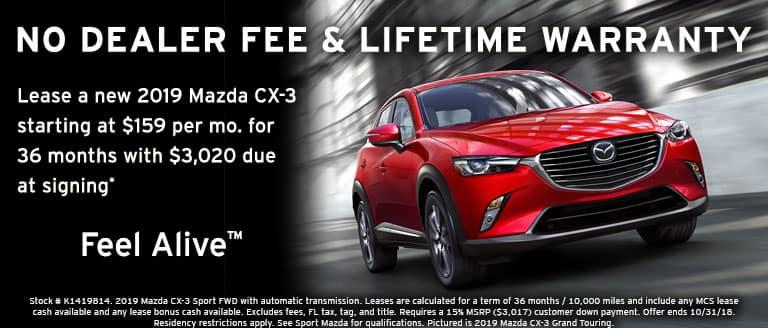 2019 Mazda CX-3 October lease special at Sport Mazda in Orlando, FL