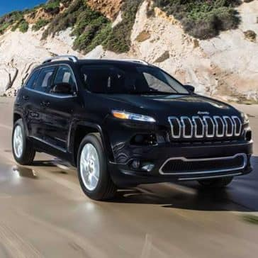 2018 Jeep Cherokee Limited on beach