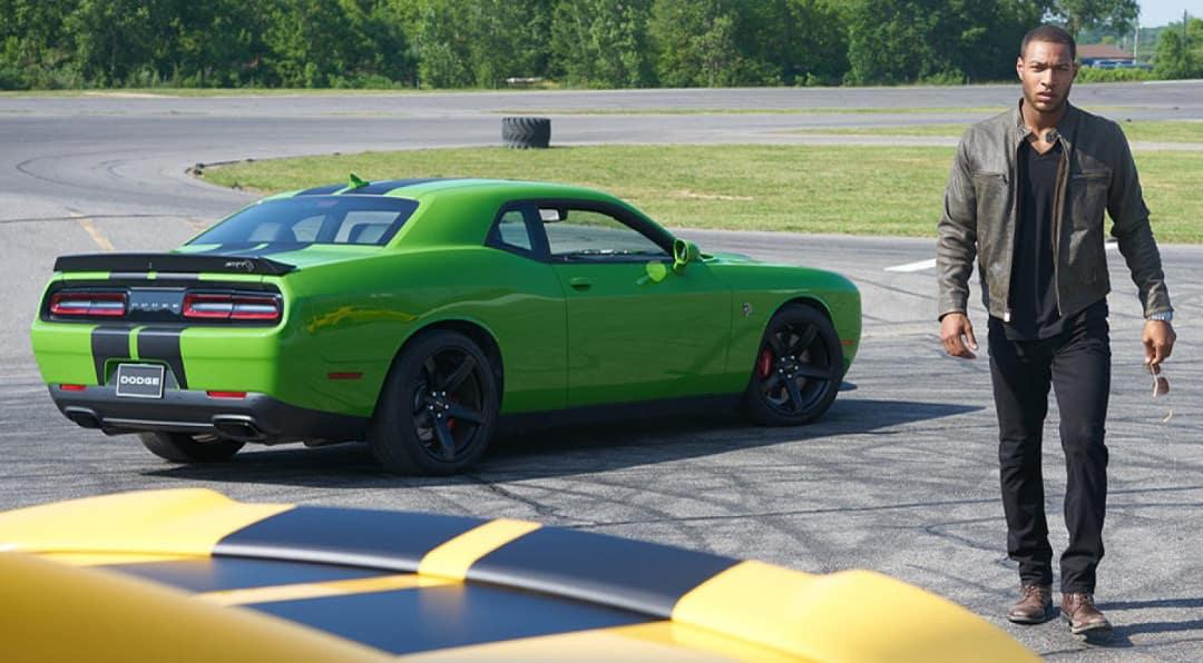 Man walks away from 2018 Dodge Challenger SRT Hellcat