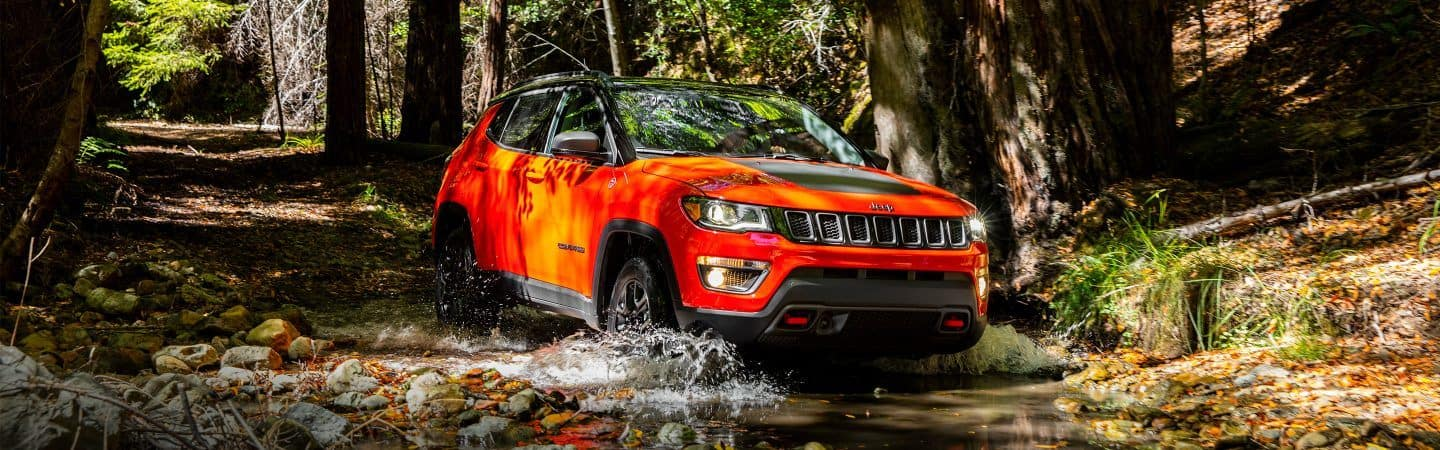 2018 Jeep Compass off-roading in forest