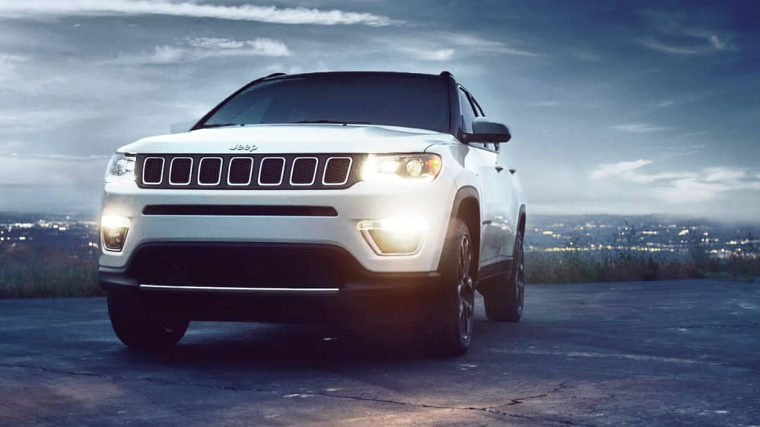white 2018 Jeep Compass