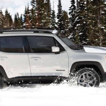 2018 Jeep Renegade in the snow