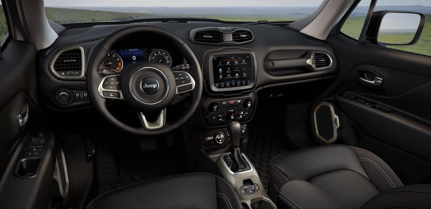 dashboard of the 2018 Jeep Renegade