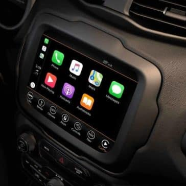 infotainment screen in 2018 Jeep Renegade