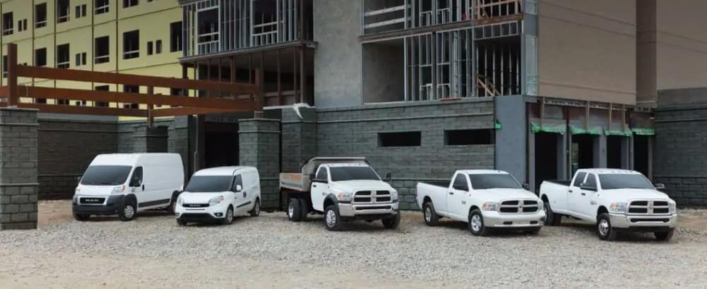 White RAM commercial vehicles