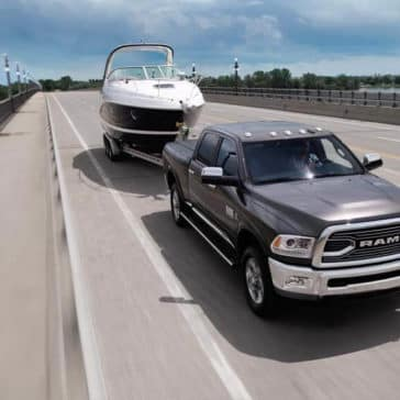 2018 Ram 2500 Limited tows boat