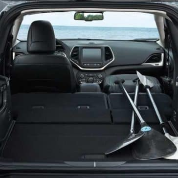 2018 Jeep Cherokee rear cargo space