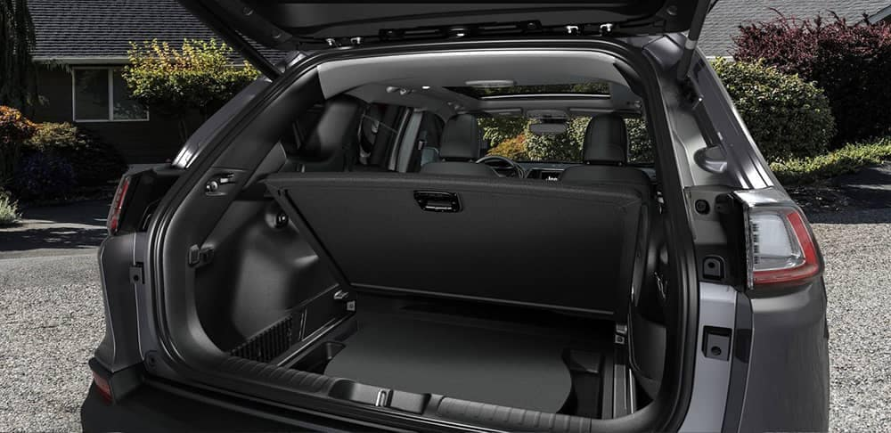 2019 Jeep Cherokee rear floor cargo space